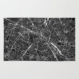 Paris Black Map Rug