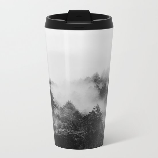End in fire black & white (requested) Metal Travel Mug
