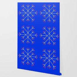 Mod Snowflake Berry Wallpaper