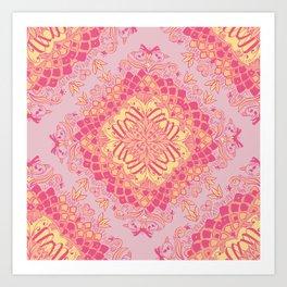 Love Butterfly Pattern Art Print