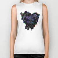 lovers Biker Tanks featuring LOVERS by i am gao