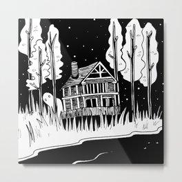 Mysterious Ghost Metal Print