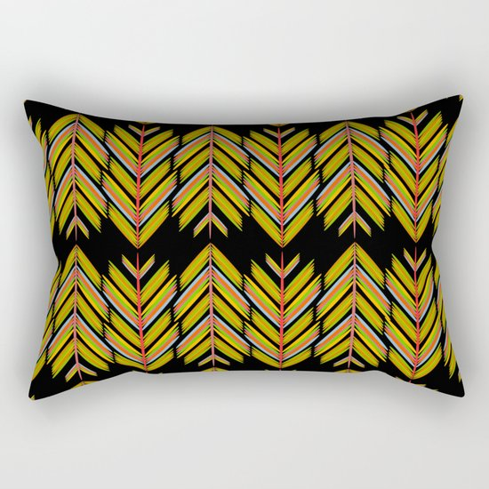 Yellow and orange feathers Rectangular Pillow