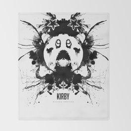 Kirby Ink Blot Geek Psychological Disorders Throw Blanket