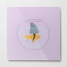 Goldfish Shark Metal Print
