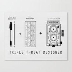 Triple Threat Designer Canvas Print