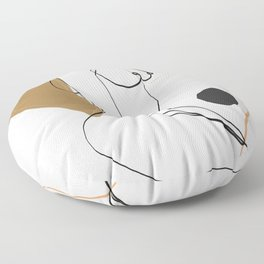 abstract nude 3 Floor Pillow