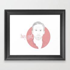 Hey Girl, Framed Art Print
