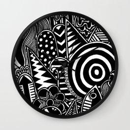 Doodle Realness Wall Clock