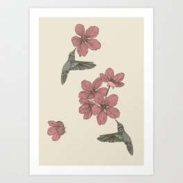 Blossoms & Birds Art Print
