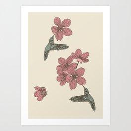 Blossoms & Birds Art Print