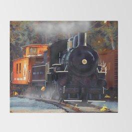 The Rail Yard  -  Steam Train Throw Blanket