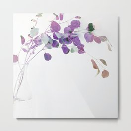 Little pink leaves plant Metal Print