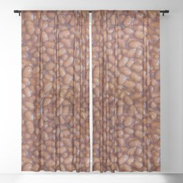 Baked Beans Pattern Sheer Curtain