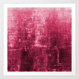 Pink Distressed & Textured Paper Design Art Print