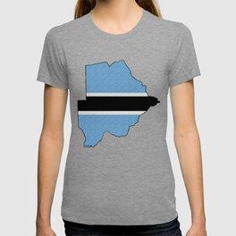Botswana Map with Botswana Flag T-shirt