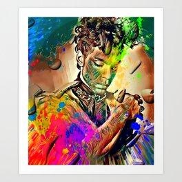 Purple Rain for ever by Nico Bielow Art Print