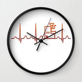 Coffee Roasting Heartbeat Wall Clock
