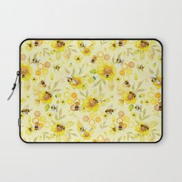 Busy Bees  Yellow Pattern Laptop Sleeve