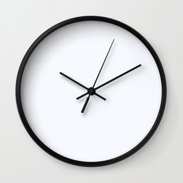 Ghost White Wall Clock