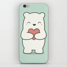 Kawaii Cute Polar Bear iPhone Skin
