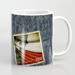 Grunge sticker of Texas (USA) flag Coffee Mug