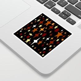 Golden Brown Atomic Stars Sticker