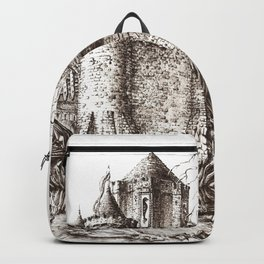 Swamp Fortress ink Backpack