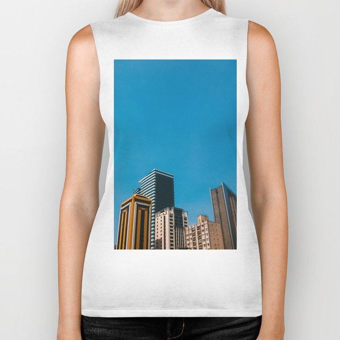 Buildings with blue sky Biker Tank