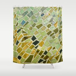 Bright n Sunshiny Day Mosaic Shower Curtain