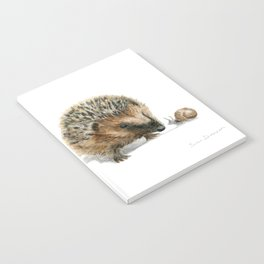 """Close Encounter"" painting of a Hedgehog and Snail by Teresa Thompson Notebook"