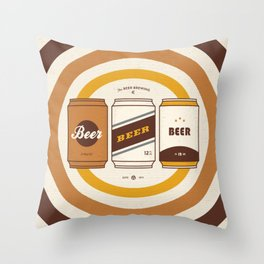 The Beer Brewing Company Throw Pillow