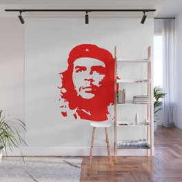 Che Guevara in Red Wall Mural
