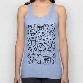 World of squares Unisex Tank Top