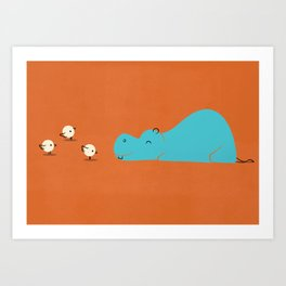 Hungry Hippo Art Print