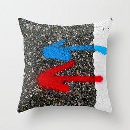 Road Marking Markings Throw Pillow