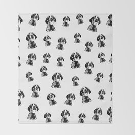 GERMAN POINTER SHORTHAIRED DOG, CHRISTMAS GIFT WRAPPED FOR ALL Throw Blanket