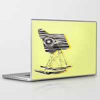 eames Laptop & iPad Skins featuring wooden eames rocking chair by MoMo