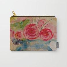 Flowers in a blue vase Carry-All Pouch