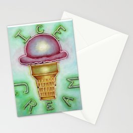 Neon Ice Cream Stationery Cards