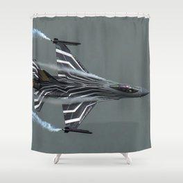 Falcon Power Shower Curtain