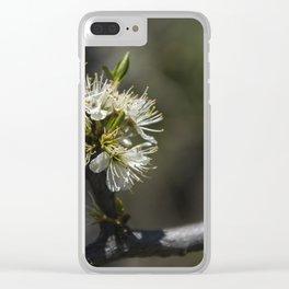 Sloe flowers #1 Clear iPhone Case