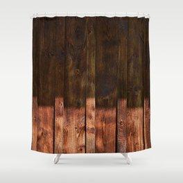 Barnwood Texture Shower Curtain