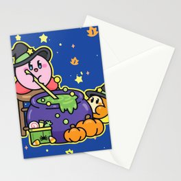 Kirby Witchy Pumpkin Spice Potion Stationery Cards