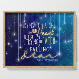 Catch a falling star-Howl's Moving Castle Serving Tray