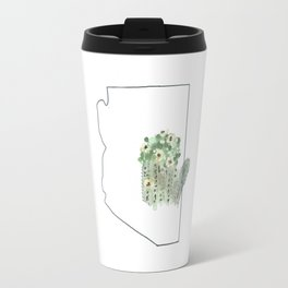 az // saguaro flower Travel Mug