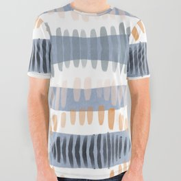 Tribal Watercolor Stripes All Over Graphic Tee