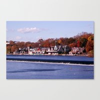rowing Canvas Prints featuring Rowing by Scott Kuhn