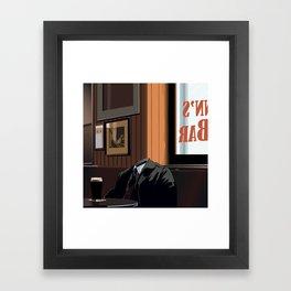A quiet pint Framed Art Print