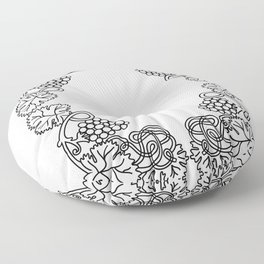 Abstract floral frame Floor Pillow